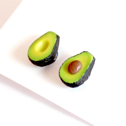 Tiny Avocado Stud Earrings - Fatally Feminine Designs
