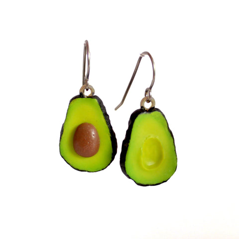Avocado Earrings - Hypoallergenic Surgical Steel - Fatally Feminine Designs