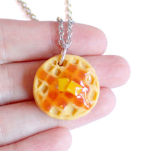 Load image into Gallery viewer, Eggo Waffle Necklace - Fatally Feminine Designs