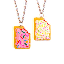 Load image into Gallery viewer, Pink or Strawberry Pop Tart Necklace