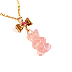 Pink Gummy Bear Necklace