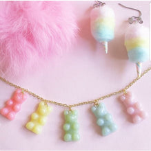 Load image into Gallery viewer, Pastel Gummy Bears Necklace Charm Necklace - Fatally Feminine Designs