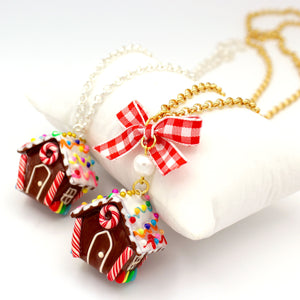 Miniature Gingerbread House Necklace - Limited Edition Holiday Collection