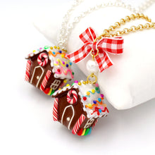 Load image into Gallery viewer, Miniature Gingerbread House Necklace - Limited Edition Holiday Collection