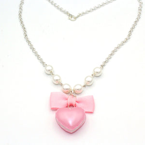 Macaron Heart Necklace - Pink, Purple or Mint Green - Valentines Day Necklace