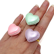 Load image into Gallery viewer, Pastel Heart Macaron Ring - Adjustable - Valentine's Day