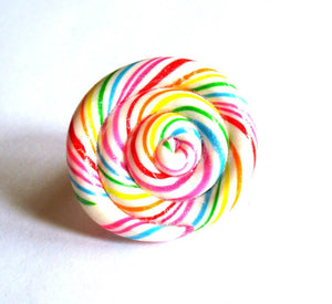 Jumbo Rainbow Lollipop Ring