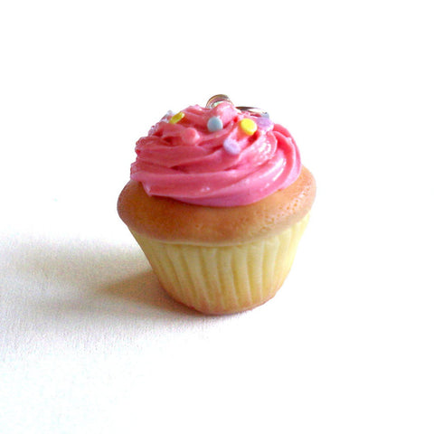 Pink Cupcake Charm or Necklace