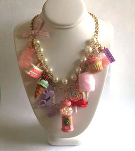 Pink Candy Shop Statement Necklace - As seen on Fuller House Kimmy Gibler