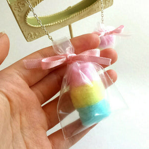Pastel Cotton Candy Bag Earrings