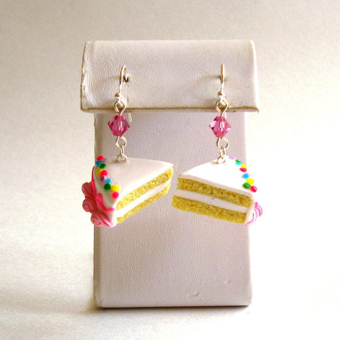 Birthday Cake Slice Earrings
