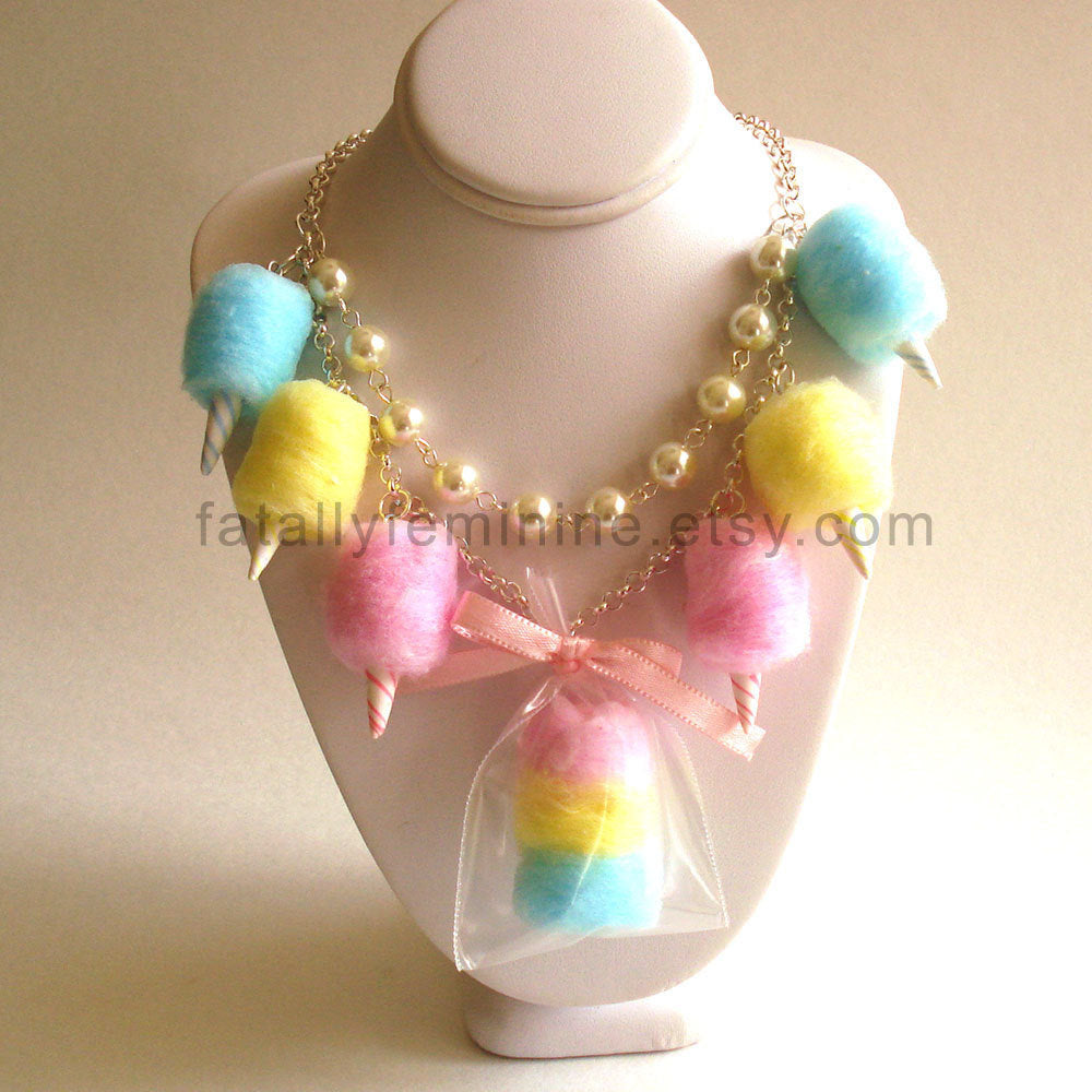 Cotton Candy Carnival Statement Necklace