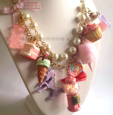 Pink Candy Shop Statement Necklace