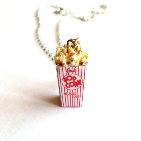 Retro Popcorn Box Necklace