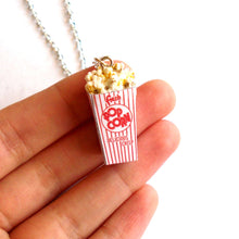 Load image into Gallery viewer, Retro Popcorn Box Necklace