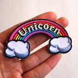 "Rainbow ""Unicorn"" Iron-on Embroidered Patch"