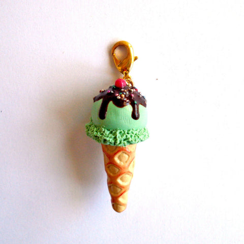 Fancy Ice Cream Cone Charm