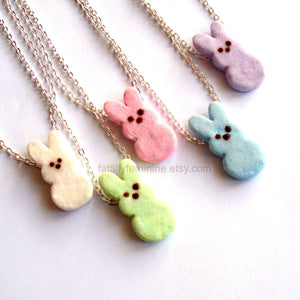 Peeps Marshmallow Bunny Chain Necklace