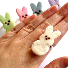 Load image into Gallery viewer, Peeps Marshmallow Bunny Ring