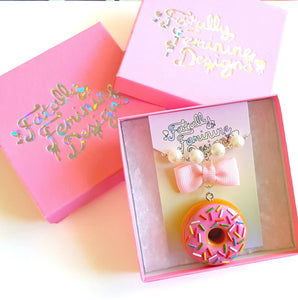 Gummy Peach Ring Keychain - Fatally Feminine Designs
