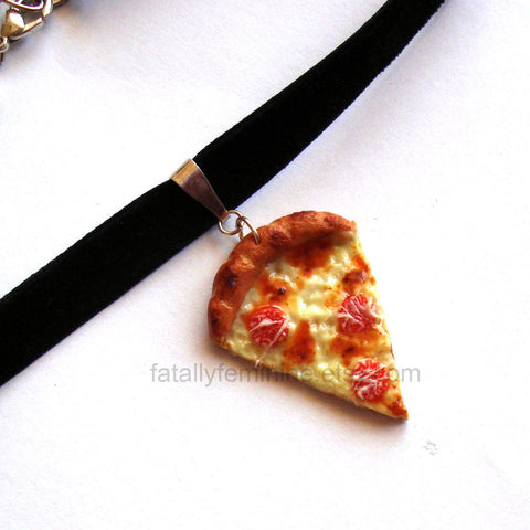 Pepperoni Pizza Choker Necklace