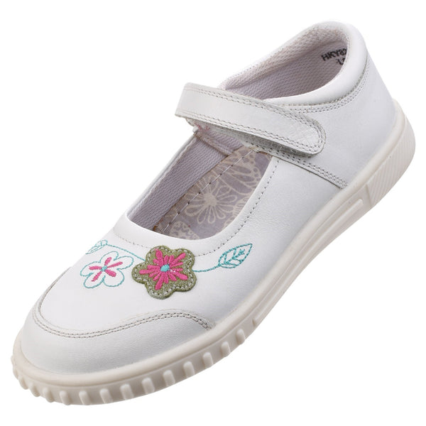 WHITE LOTTIE GIRLS JUNIOR CASUAL SHOE
