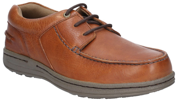 TAN WINSTON VICTORY CAUSAL LACE UP MOCCASIN SHOE