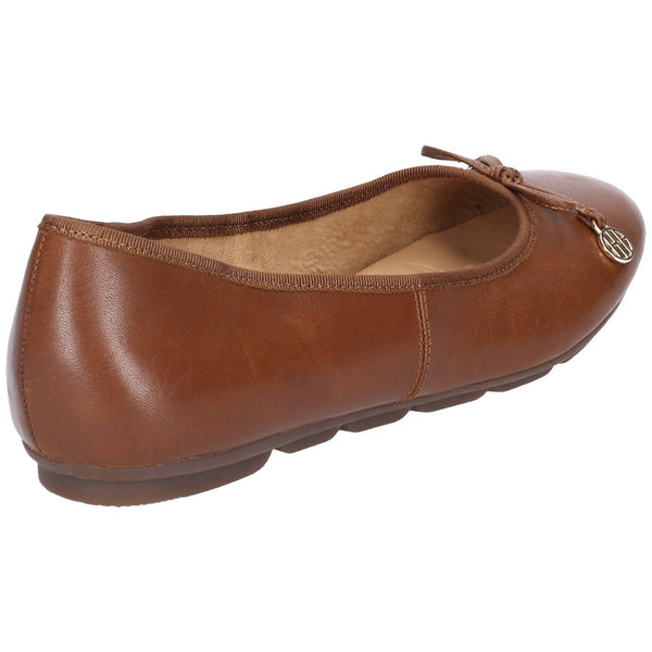 BROWN ABBY BOW BALLET SLIP ON PUMP SHOE