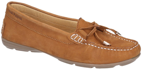 TAN MAGGIE SLIP ON TOGGLE SHOE