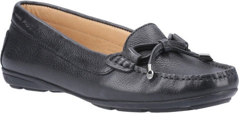 BLACK MAGGIE SLIP ON TOGGLE SHOE