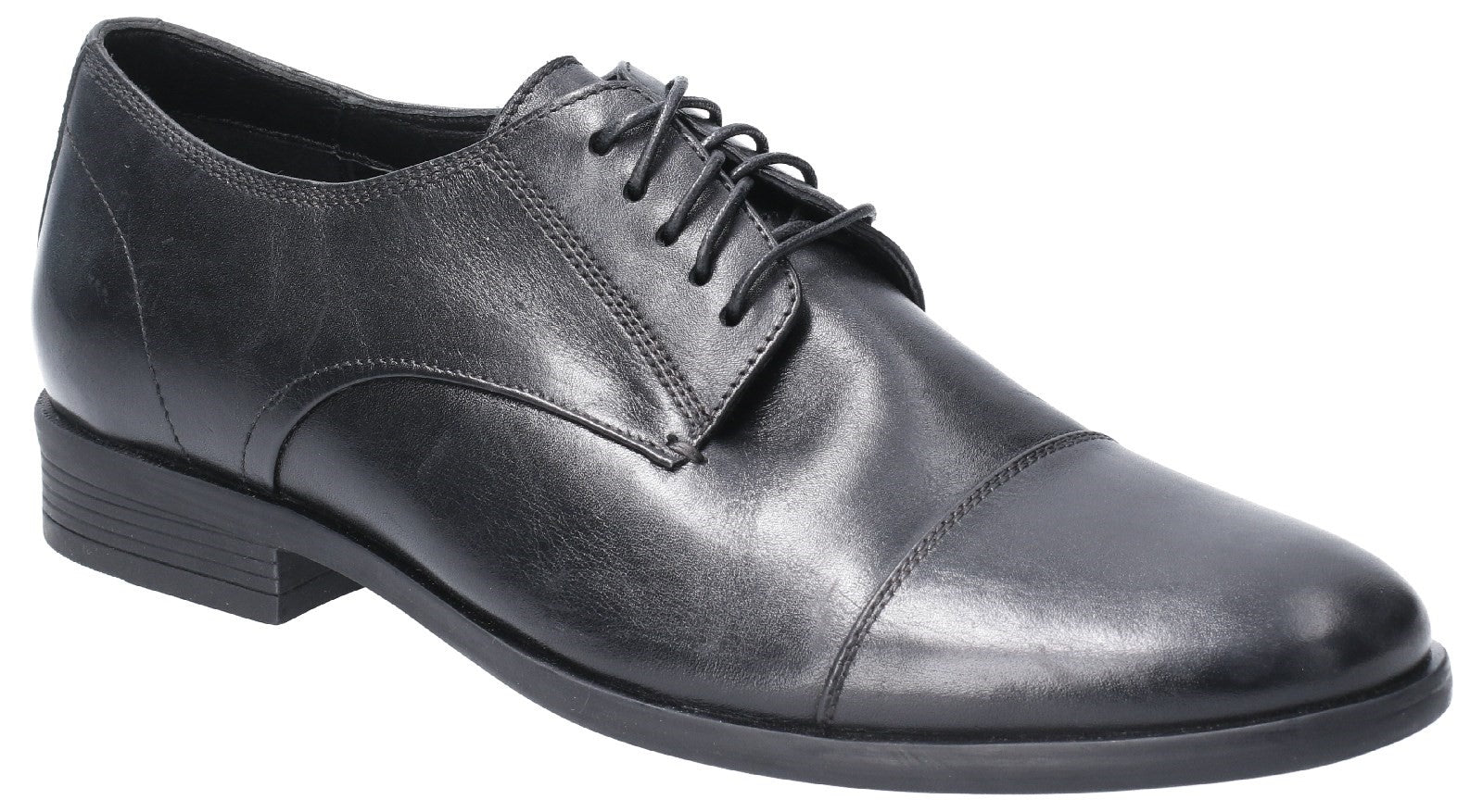 Black Ollie Cap Toe Lace Up Shoe