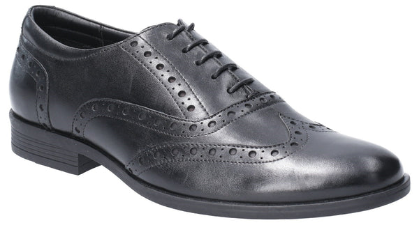 BLACK OAKEN BROGUE LACE UP SHOE