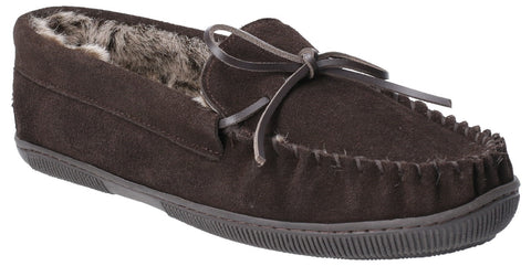 BROWN ACE SLIP ON SLIPPER