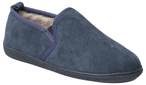 NAVY ARNOLD SLIP ON SLIPPER
