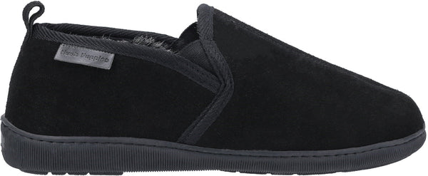 BLACK ARNOLD SLIP ON SLIPPER
