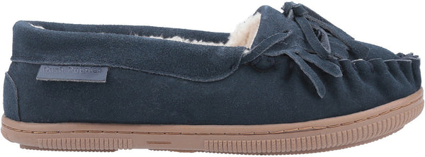 NAVY ADDY SLIP ON SLIPPER