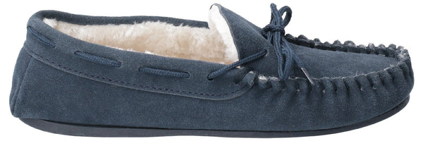 NAVY ALLIE SLIP ON SLIPPER