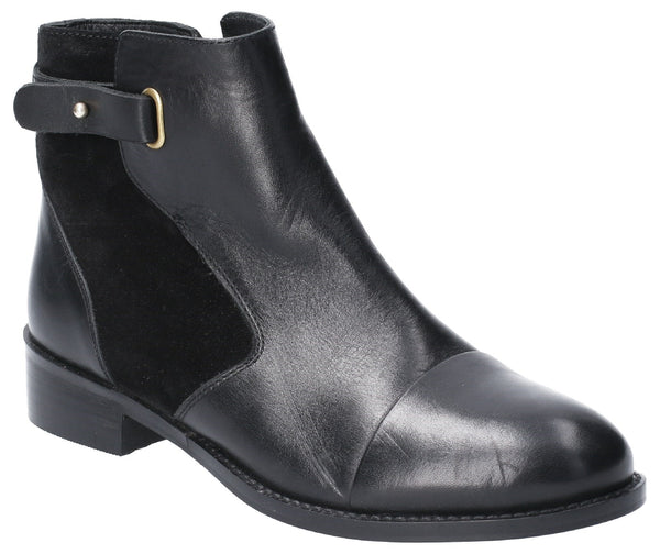 BLACK HOLLIE ZIP UP ANKLE BOOT