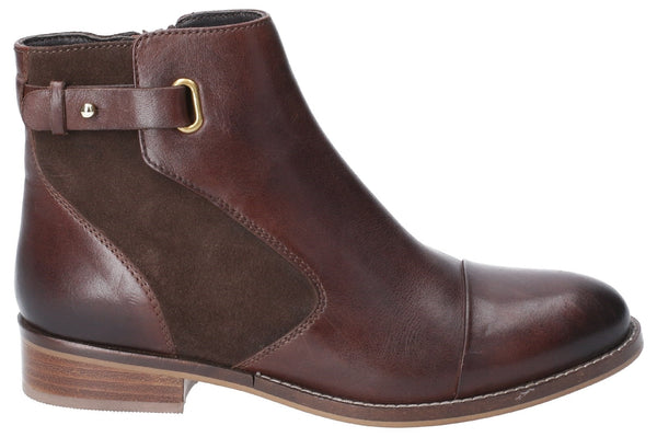 BROWN HOLLIE ZIP UP ANKLE BOOT