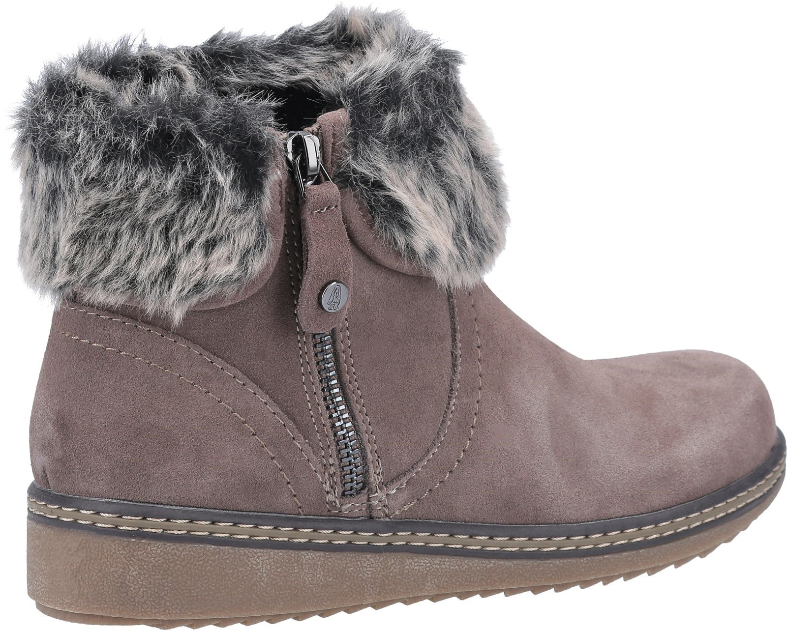 Grey Penny Zip Ankle Boot