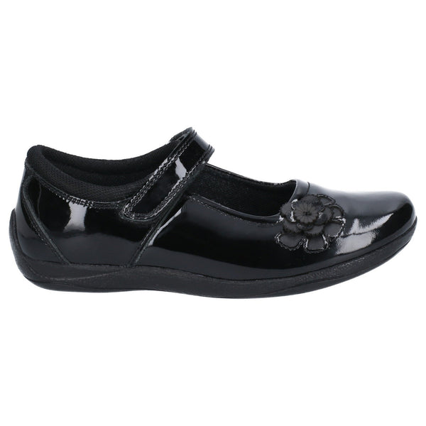 BLACK JESSICA PATENT JNR TOUCH FASTENING SCHOOL SHOE