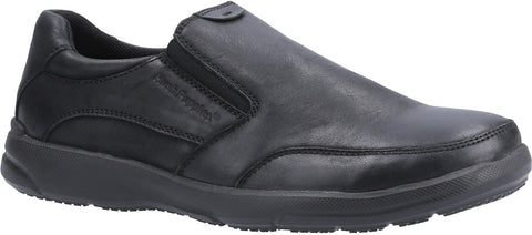 BLACK AARON SLIP ON SHOE