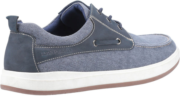 NAVY AIDEN LACE UP BOAT SHOE