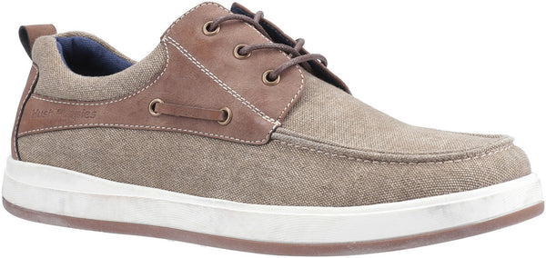 KHAKI AIDEN LACE UP BOAT SHOE