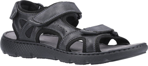 BLACK CARTER STRAP SANDAL