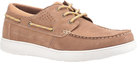 TAN LIAM LACE UP BOAT SHOE