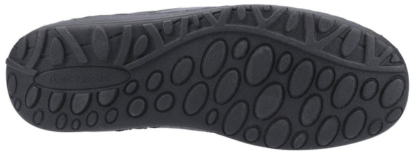 BLACK THEO LACE UP MOCCASIN