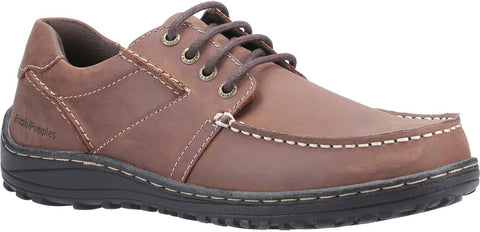 BROWN THEO LACE UP MOCCASIN