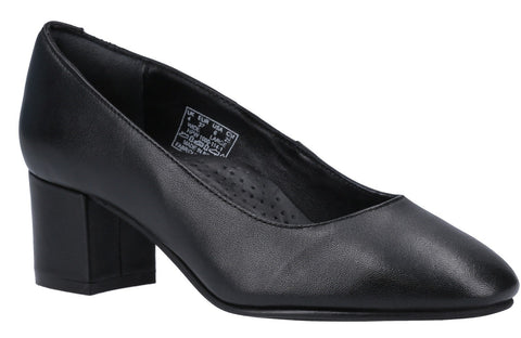 BLACK ANNA SLIP ON COURT SHOE