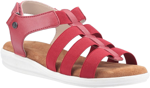 RED HAILEY GLADIATOR SANDAL